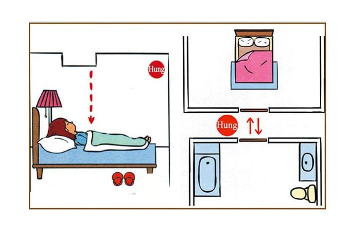 Cách bố trí nhà vệ sinh trong phòng ngủ hợp phong thủy đem lại may mắn